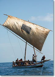 Traditional boat of Lembata island