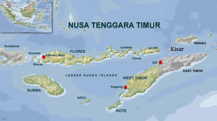 Map of Nusa Tenggara Timor