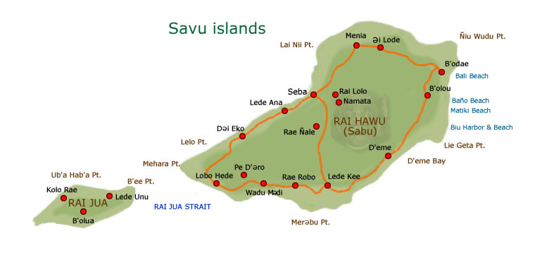 Savu islands map