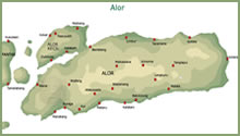 Map of Alor island - click to enlarge