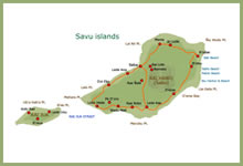 Map of Savu islands