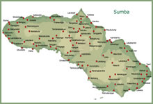 Map of Sumba island