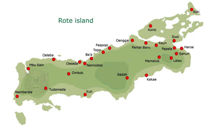 Rote Island Indonesia  city images : Rote island map